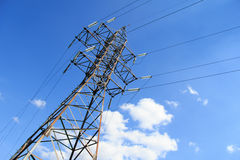 Tower high-voltage lines Stock Photos