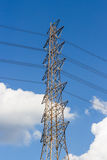Tower of high voltage Stock Photography