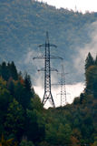 Tower high-voltage power line Stock Image