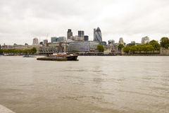 Tower hill. A picture taken from the tower bridge of tower hill and the thames in London Stock Photo