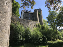 Tower on a hill in Monschau Royalty Free Stock Images