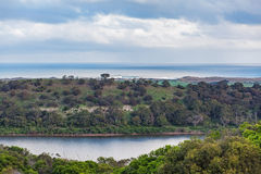 Tower Hill Reserve and Ocean Royalty Free Stock Photo