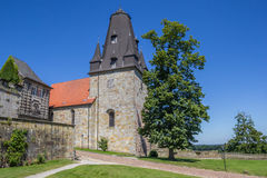 Tower of the hilltop castle in Bad Bentheim Royalty Free Stock Images