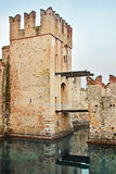 Tower with hinged bridge Royalty Free Stock Image