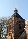 The tower of the Hippolytus Church. Middelstum royalty free stock photography