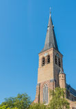 Tower of an historic Dutch church Royalty Free Stock Images