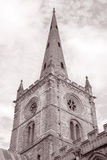 Tower of Holy Trinity Church; Stratford Upon Avon Stock Photography