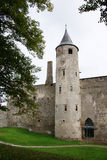 Tower with hours. Estonia. Haapsalu. Ruins of a castle . 13 century Stock Photography