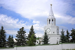 Tower with hours, Kazan Kremlin Stock Photo