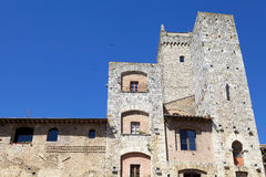 Tower house in historic centre of San Gimignano, Tuscany, Italy Stock Photography