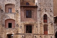 Tower house in San Gimignano Stock Image