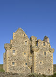 Tower House. The west elevation showing corbelling of Scalloway Castle, Scalloway, Mainland Shetland, Scotland, a 17th century tower house Stock Photo