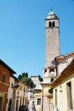 Tower and houses in Asolo, Italy Royalty Free Stock Photography