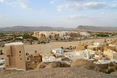 Tower houses town of Shibam, Hadramaut valley, Yemen. Stock Photography