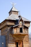 Tower of Ilim ostrog. Ilim ostrog - wooden protection enclosure of 16th century - one of the first russian settlement in the east siberia - on Angara and Ilim Stock Image
