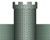 Tower. Illustration of the tower and wall icon Stock Image