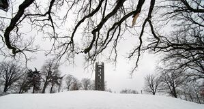 Free Tower In The Winter Snow Stock Photo - 183752580