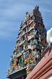 Tower of indian temple. An indian temple in singapore with bueatiful decration Stock Images