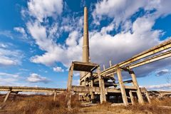 Tower of an industrial in degradation Royalty Free Stock Photography
