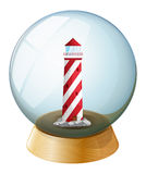 A tower inside the crystal ball Stock Images