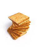 Tower of integral crackers Stock Photography