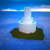 Tower on island Stock Images