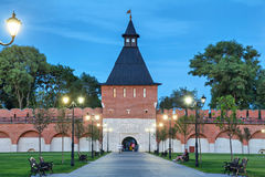 Tower of Ivanov Gate in Tula kremlin Royalty Free Stock Photography