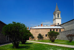 The Tower of Justice - Topkapi Palace. The Tower of Justice (Adalet Kulesi) is located between the Imperial Council and the Harem. The tower is several stories Stock Photography