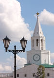 Tower of the Kazan Kremlin. Tower with the clock in the Kazan Kremlin royalty free stock image