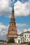 Tower of Kazan Kremlin (Russia). The leaning tower of Kazan Kremlin (Russia royalty free stock image