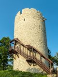 Tower in Kazimierz Dolny. Tower, part of defensive system in Kazimierz Dolny town over the Vistula river, Poland Royalty Free Stock Photo