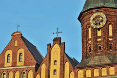 Tower Koenigsberg Cathedral on a summer evening. Symbol of Kalin Royalty Free Stock Photos