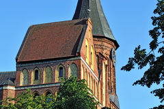 Tower Konigsberg Cathedral on a summer evening. Symbol of Kalini Stock Images