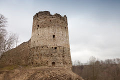 Tower of Koporye Fortress, Russia Royalty Free Stock Photos