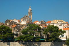 The tower in Korcula Stock Image