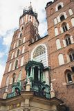 Tower in Krakow, Poland. Old tower and sky royalty free stock image