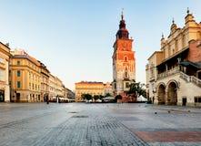 Tower in Krakow squae, Poland Royalty Free Stock Image