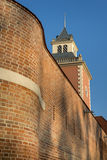 Tower of Krasicki Bishop castle in Lidzbark Warminski Royalty Free Stock Photo