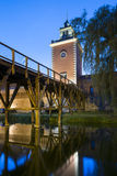 Tower of Krasicki Bishop castle in Lidzbark Warminski, Royalty Free Stock Photos