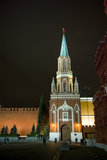 Tower of the Kremlin Wall in Moscow Stock Photography