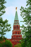 Tower of the Kremlin wall in Moscow. Russia Royalty Free Stock Photo