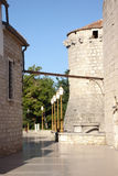 Tower of KrK. Tower of the court of law inside the croatian village KrK royalty free stock photos