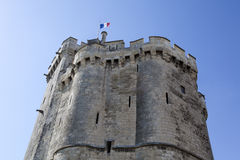 Tower of La Rochelle port on France's Atlantic coast Royalty Free Stock Photography