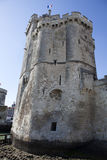Tower of La Rochelle port on France's Atlantic coast Royalty Free Stock Images