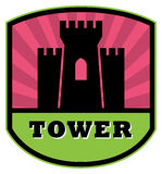 Tower label Royalty Free Stock Photo
