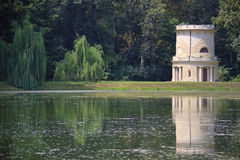 Tower in a lake. In the royal park of Racconigi, Italy Royalty Free Stock Image