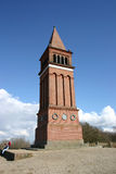 Tower, landmark. Landmark tower in brick at himmelbjerget (sky mountain) in denmark stock photo