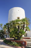 Tower landmark of Cabo Roig. Dating from the 16th century, originally built to warn of attacks from Berber pirates who assailed the coastline Stock Images