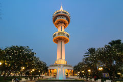 Tower landmark of Suphanburi. Royalty Free Stock Photography