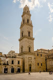 Tower of Lecce Cathedral, iconic landmark in Salento, Italy Royalty Free Stock Image